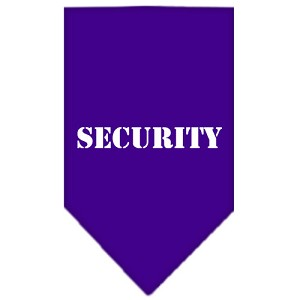 Security Screen Print Bandana Purple Small