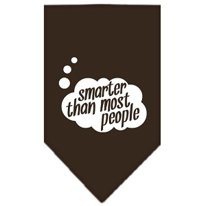 Smarter then most People Screen Print Bandana Cocoa Small