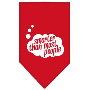 Smarter then most People Screen Print Bandana Red Small