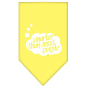 Smarter then most People Screen Print Bandana Yellow Small