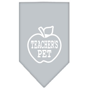 Teachers Pet Screen Print Bandana Grey Large