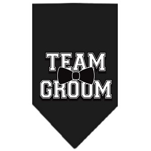 Team Groom Screen Print Bandana Black Large