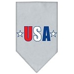 USA Star Screen Print Bandana Grey Small