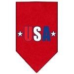 USA Star Screen Print Bandana Red Small