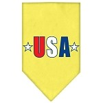 USA Star Screen Print Bandana Yellow Small
