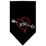 XOXO Screen Print Bandana Black Small