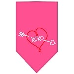 XOXO Screen Print Bandana Bright Pink Small