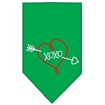 XOXO Screen Print Bandana Emerald Green Small