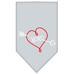 XOXO Screen Print Bandana Grey Small