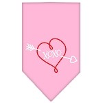 XOXO Screen Print Bandana Light Pink Small
