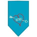 XOXO Screen Print Bandana Turquoise Small