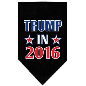 Trump in 2016 Election Screenprint Bandanas Black Large