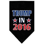 Trump in 2016 Election Screenprint Bandanas Black Small