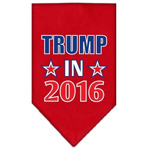 Trump in 2016 Election Screenprint Bandanas Red Large