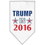 Trump in 2016 Election Screenprint Bandanas White Small