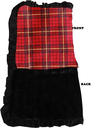 Luxurious Plush Pet Blanket Red Plaid Jumbo Size