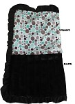 Luxurious Plush Pet Blanket Aqua Party Dots 1/2 Size