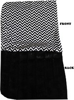 Luxurious Plush Carrier Blanket Black Chevron