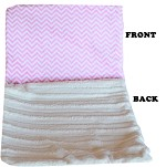 Luxurious Plush Carrier Blanket Pink Chevron