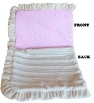 Luxurious Plush Pet Blanket Pink Chevron 1/2 Size