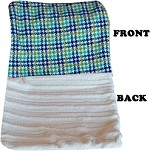 Luxurious Plush Carrier Blanket Aqua Plaid