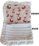Luxurious Plush Pet Blanket Foxy 1/2 Size