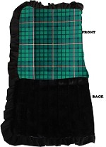 Luxurious Plush Pet Blanket Green Plaid 1/2 Size