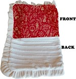 Luxurious Plush Pet Blanket Red Holiday Whimsy 1/2 Size