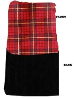 Luxurious Plush Carrier Blanket Red Plaid