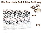 Light Snow Leopard Carrier Blanket