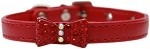 Bow-dacious Crystal Dog Collar Red Size 10