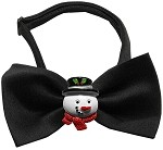 Frosty Chipper Black Pet Bow Tie