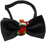 Stocking Chipper Black Pet Bow Tie