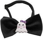 Girly Ghost Chipper Black Bow Tie
