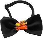 Reindeer Chipper Black Pet Bow Tie