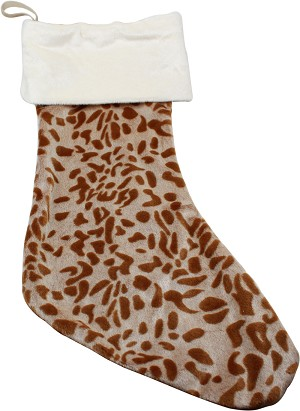 Brown Leopard Christmas Stocking
