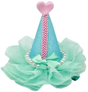 Pretty Party Hat Clip-on Aqua