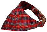 Red Plaid Bandana Collars Red 10