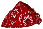 Red Western Bandana Collars Red 10