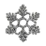 Holiday 10mm Slider Charms Snowflake .