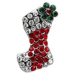 Holiday 10mm Slider Charms Red Stocking .