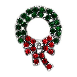 Holiday 10mm Slider Charms Wreath