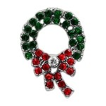 Holiday 10mm Slider Charms Wreath .