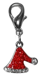 Santa Hat Lobster Claw Charm