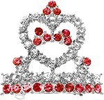 Tiara Hair Barrette Red