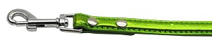 Metallic Crystal Bone Collars Lime Green 1/2