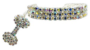 Glamour Bits Pet Jewelry Clear L (10-12)