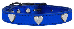 Metallic Heart Leather Blue MTL 18