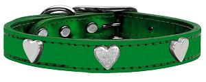 Metallic Heart Leather Emerald Green MTL 10