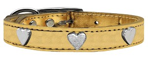 Metallic Heart Leather Gold 18